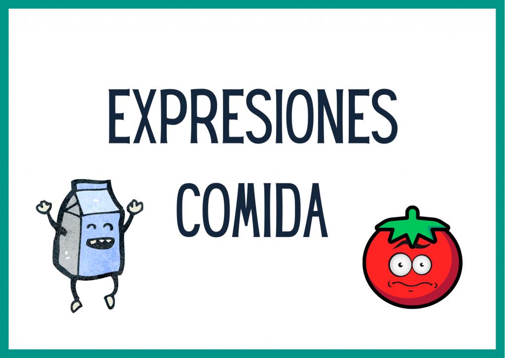 expresiones con comida